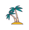 palm tree icon cartoon style vector image
