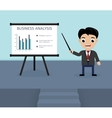 Presentation of business analysis vector image