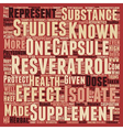 Resveratrol Capsules Tiny Ounces of Health text vector image vector image
