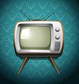 Retro television on wallpaper vector image vector image