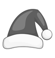 Santa Claus hat icon black monochrome style vector image vector image