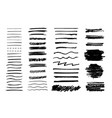 set of grungy graphite pencil art brushes vector image vector image