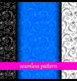 set of seamless pattern with fish vector image