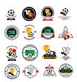 Set of soccer badge labels emblems vector image