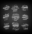 Set Of Vintage Retro Coffee Labels vector image vector image