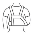 shoulder immobilzer thin line icon medical vector image vector image