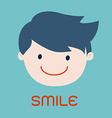 Smiling business man cartoon vector image vector image