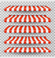 store awning grocery market striped roofs red vector image vector image