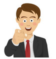 successful businessman pointing finger at you vector image vector image