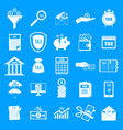 taxes icons set simple style vector image