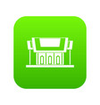 thailand temple icon digital green vector image