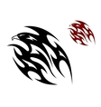 Tribal bird tattoo vector image