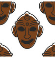 tunisian mask museum relic or tribal totem vector image vector image
