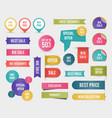 variety sales tags set vector image vector image