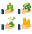 various kind of money vector image vector image