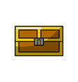 video game treasure chest with many gold vector image vector image