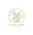 wind mill logo design template vector image vector image