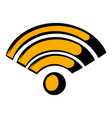 wireless network icon icon cartoon vector image vector image