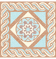 Background color mosaic in the ancient style vector image