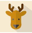 Modern Flat Design Deer Icon vector image