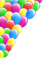 Multicolored inflatable air balls isolated on vector image