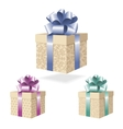 Gift boxes collection isolated on white background vector image