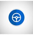 wheel icon steering car circle vehicle vector image