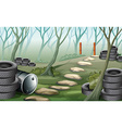 A forest with tires vector image vector image