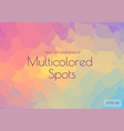 abstract polygonal background bright juicy colors vector image vector image