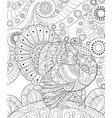 adult coloring bookpage a thanksgiving turkey