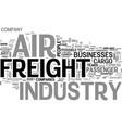 air freight industry text word cloud concept vector image vector image