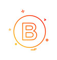 b icon design vector image