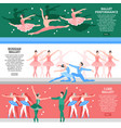 ballet flat banners set vector image vector image