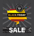 black friday sale template banner special vector image vector image