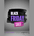black friday shopping sale realistic poster vector image vector image