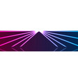 blue ultraviolet neon laser lines abstract banner vector image vector image