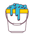 bucket with handle and full of water and soap vector image