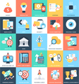 Business Concepts Icons 9 vector image vector image