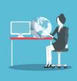 businesswoman working avatar vector image vector image