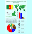 cameroon infographics for presentation all vector image vector image