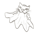 cat teeth and claws gripped the cloth vector image vector image