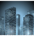 city front night vector image vector image
