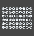 cogwheels large set metal snowflakes industrial vector image