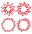 collection of circle design elements red outline vector image vector image