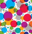 Colorful ink splash seamless pattern with rounded vector image