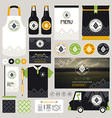 Concept for craft beer restaurant identity vector image vector image