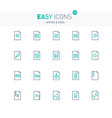 easy icons 20e files vector image vector image