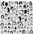 faces doodles set vector image vector image
