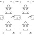 fashionable handbags black and white seamless vector image vector image