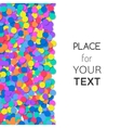 Festive background with colorful confetti and vector image vector image
